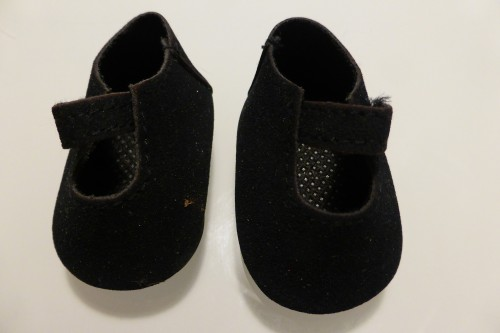 black ankle strap shoes for sasha baby dolls
