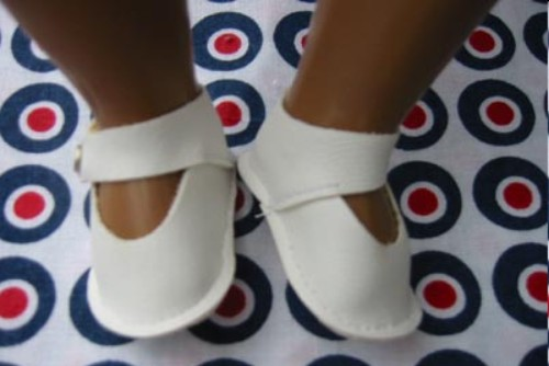 white ankle strap shoes for sasha baby dolls