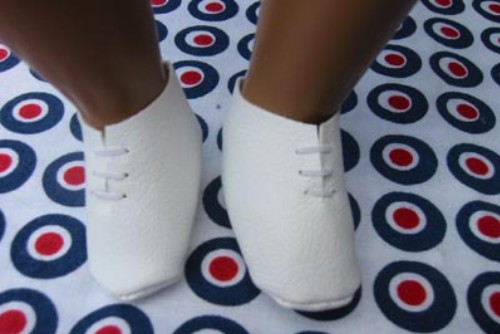white bootees for sasha baby dolls